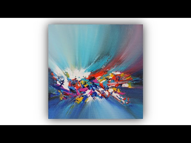 Abstract Painting Techniques / Acrylics / Palette Knife / Demo #007