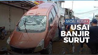 Setelah Banjir Surut, Mobil Saling  Bertumpuk di Pondok  Gede Permai Bekasi