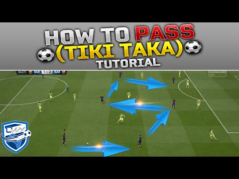 FIFA 15 TIKI TAKA TUTORIAL -THE SECRETS / How To Pass Efficiently / The Perfect Possesion Play Style