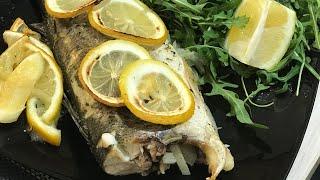 Как приготовить Сибас . Рыба в Духовке . Как приготовить рыбу в Духовке .