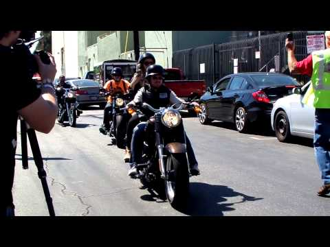 SONS OF ANARCHY CAST Arriving At The Boot Ride In Hollywood