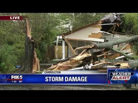 Storm damage in Carrollton