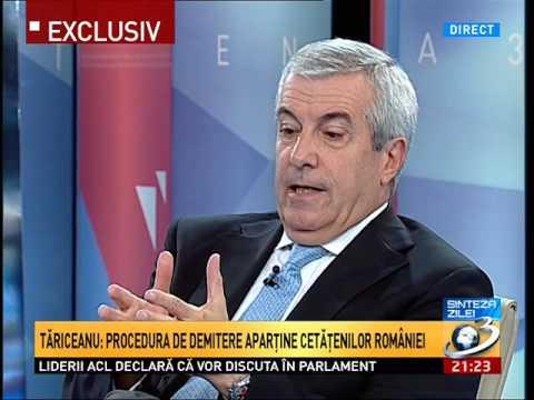 Sinteza Zilei, Calin Popescu Tariceanu: Nu putem trece cu vederea aceste actiuni ale lui Basescu
