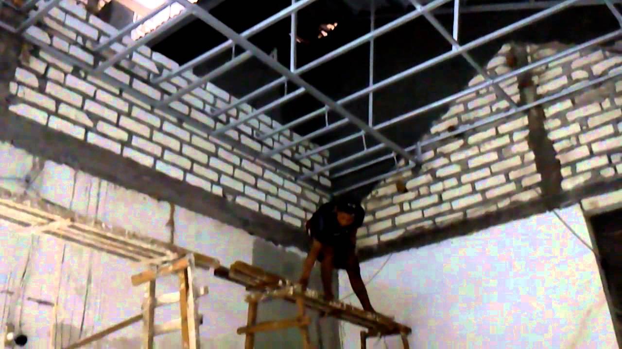 Cara membuat atap plafon dengan menggunakan galfalum YouTube