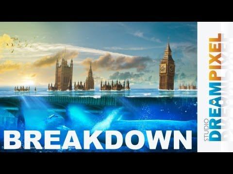 [#Breakdown] London Underwater Disaster | Speed Art