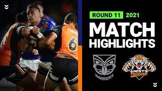 Warriors v Wests Tigers Match Highlights   Round 11, 2021   Telstra Premiership   NRL