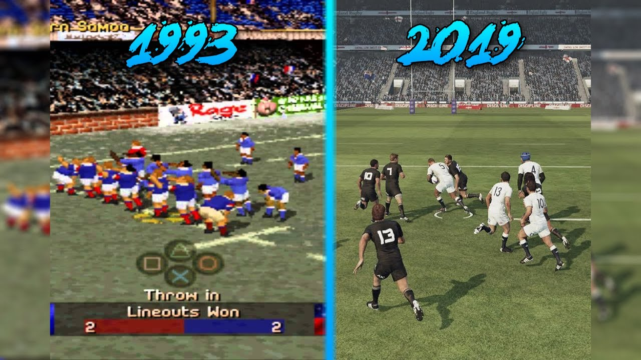 Rugby Video Games Evolution 1993 2019 Youtube