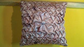 Буфы - декоративная подушка схема листья.