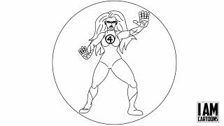 INVISIBLE WOMAN BW-ANIMATION