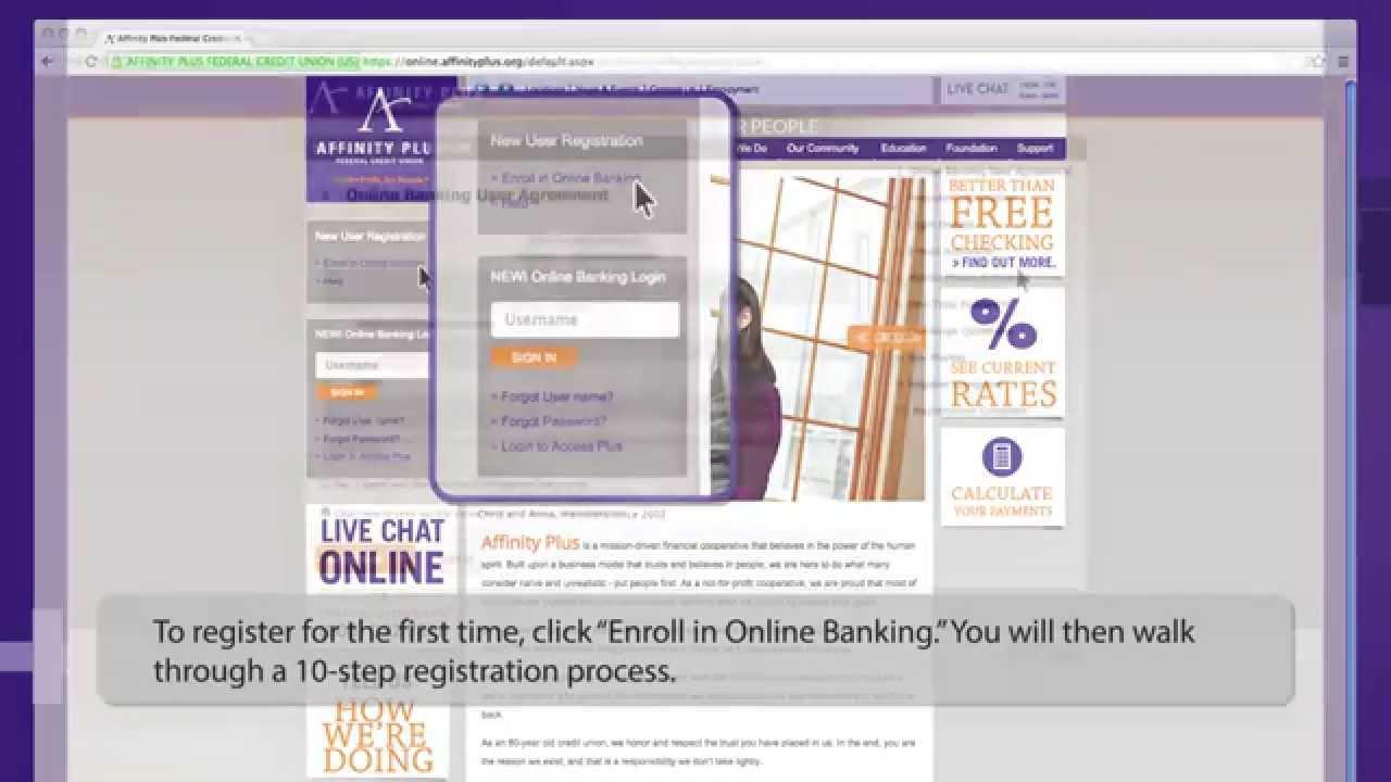 Affinity Plus Online >> Affinity Plus Federal Credit Union Online Banking Registration