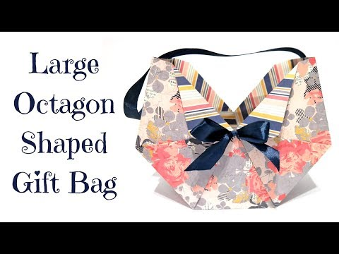 Large Octagon Shaped Gift Bag   Mothers Day Series 2018
