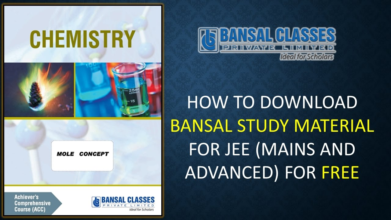 How to download bansal study material for jee main & advanced.