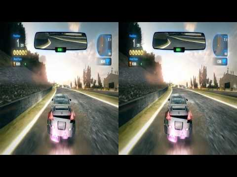 Blur Racing Game 3d Stereoscopic Video Capture in Full HD