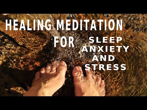 Guided meditation Healing stream for positive energy, sleep and anxiety
