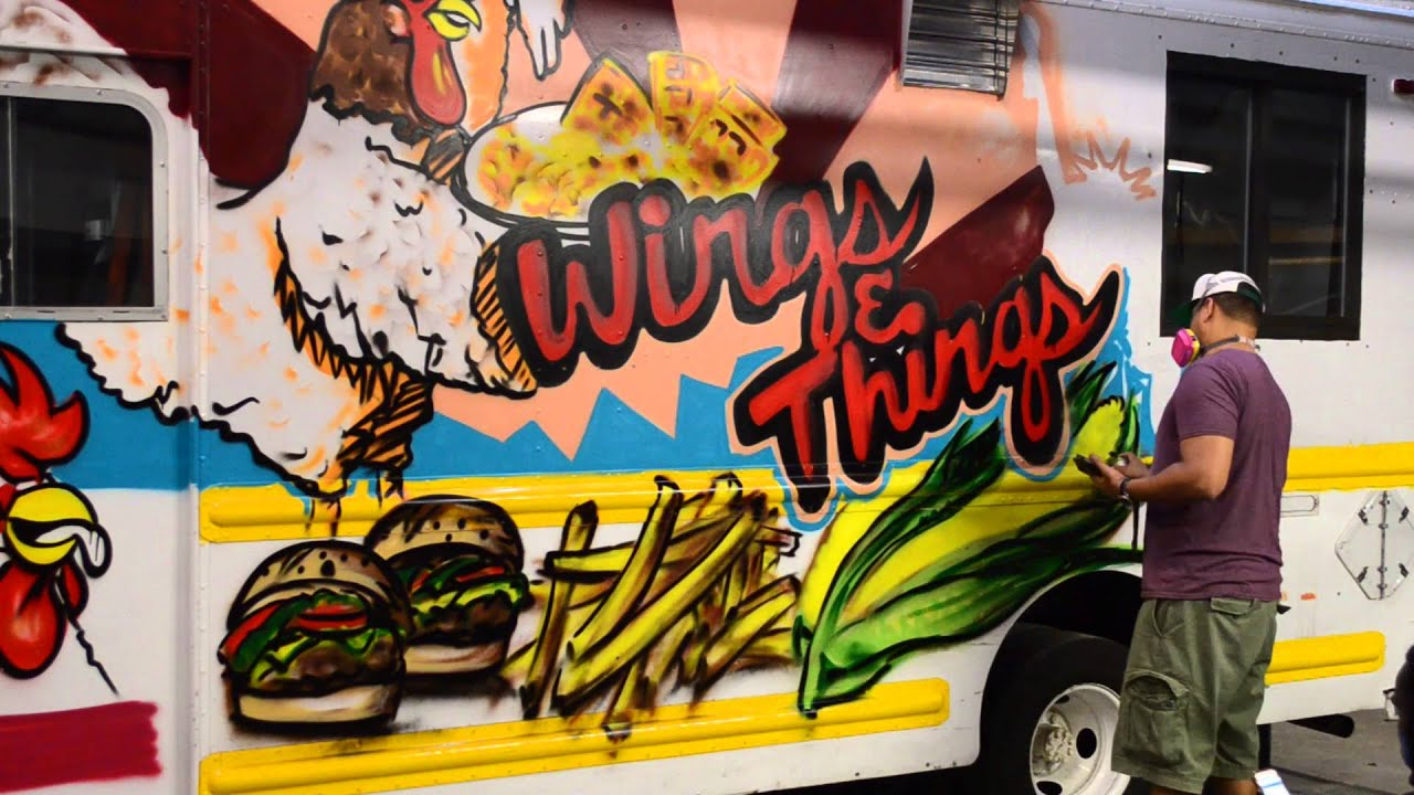 Painted Food Truck Wings Things NY