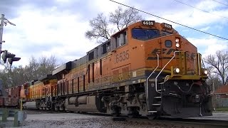 BNSF 6535 Leads a Mixed Freight - Colona, IL - 4/15/2016