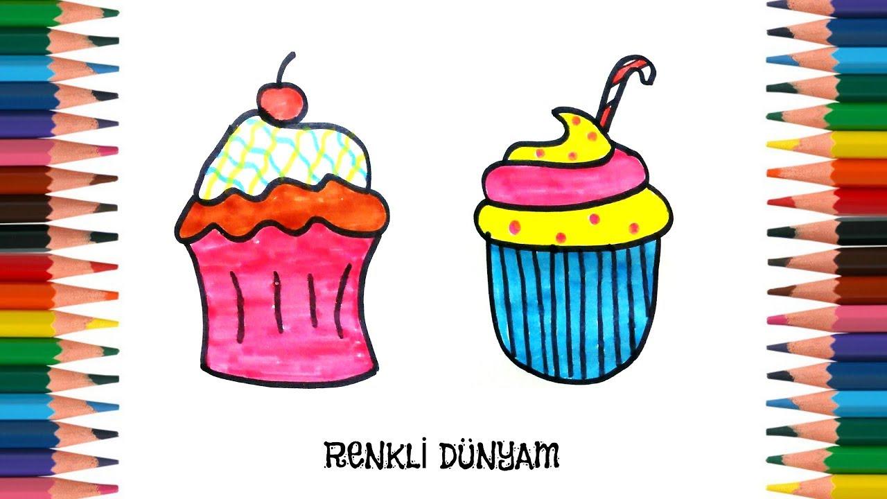 Cupcake Nasil Cizilir Cupcake Cizimi How To Draw A Cupcake