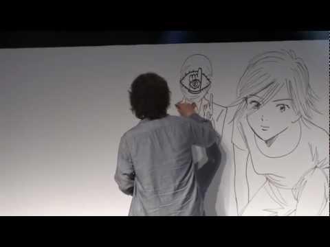 Naoki Urasawa - Dessin publique - Japan Expo 2012 - HD