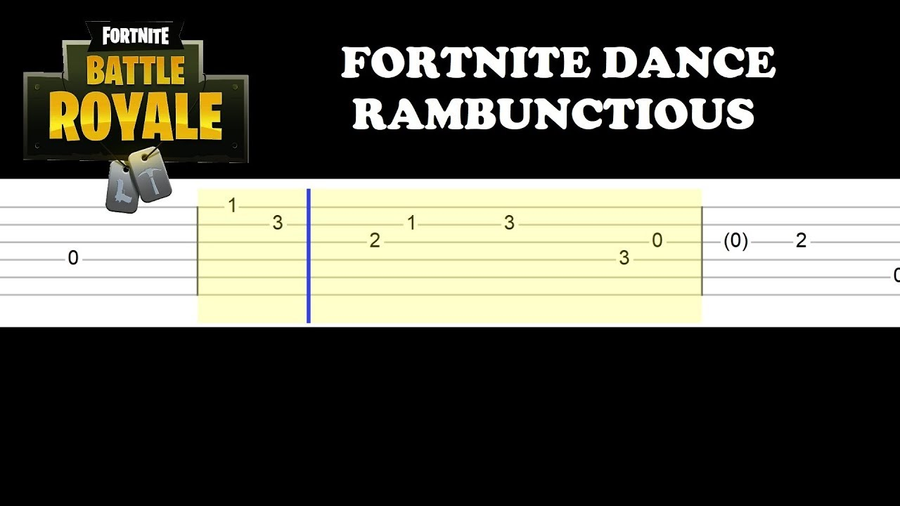 Fortnite Dance Rambunctious Easy Guitar Tabs Tutorial Youtube