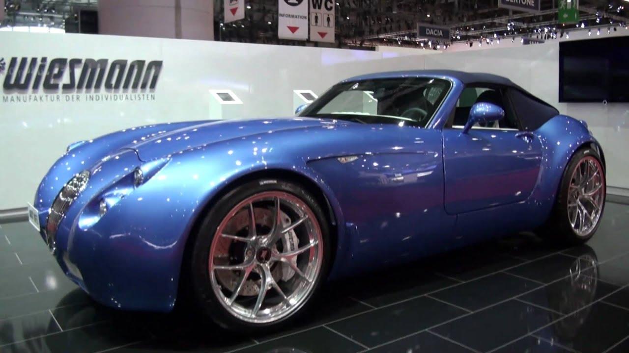 Wiesman MF-5 Roadster BMW M5-powered S85 V10 in Geneva 2011 - YouTube