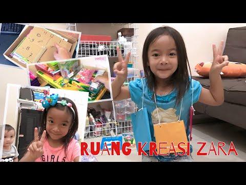 Ini dia Kamar Kreasi yang membuat Zara semangat Belajar dan Kreatif | Ruang Anak