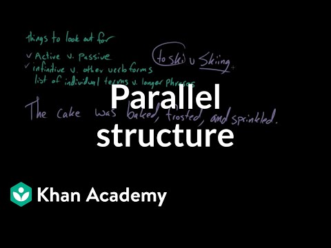 Parallel Structure | Syntax | Khan Academy