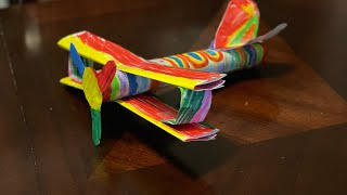 How to Make a Paper Airplane | Paper Towel Roll Craft