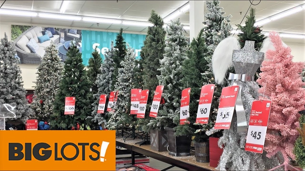 Big Lots Christmas.Christmas Trees At Big Lots Christmas Shopping Shop With Me Store Walk Through 4k