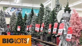Christmas Trees At Big Lots Christmas Shopping Shop With Me Store Walk Through 4k Youtube