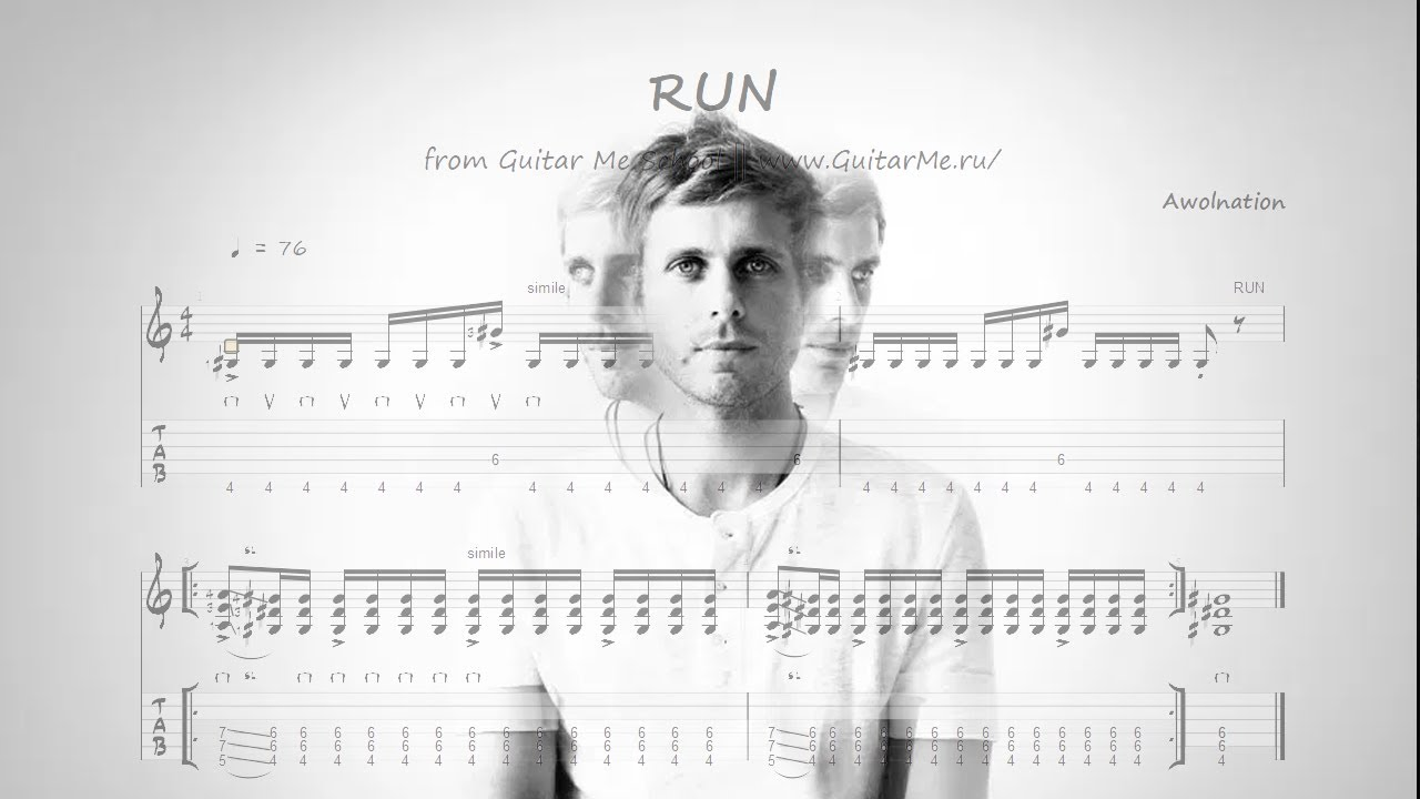 RUN by Awolnation on Electroguitar TABS | Guitar Me School | Aleksandr Chuiko