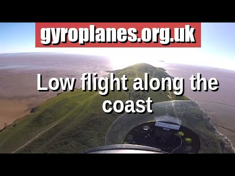 stunning coastal flight in a gyroplane/gyrocopter