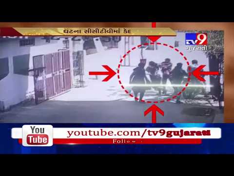 Caught on CCTV : Men attempted to snatch gold chain from a lady, failed | Dahod - Tv9