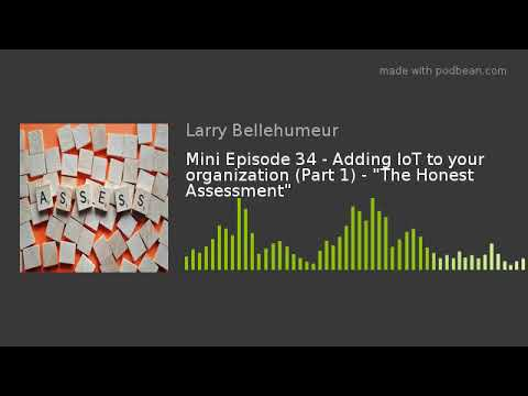 "Mini Episode 34 - Adding IoT To Your Organization (Part 1) - ""The Honest Assessment"""