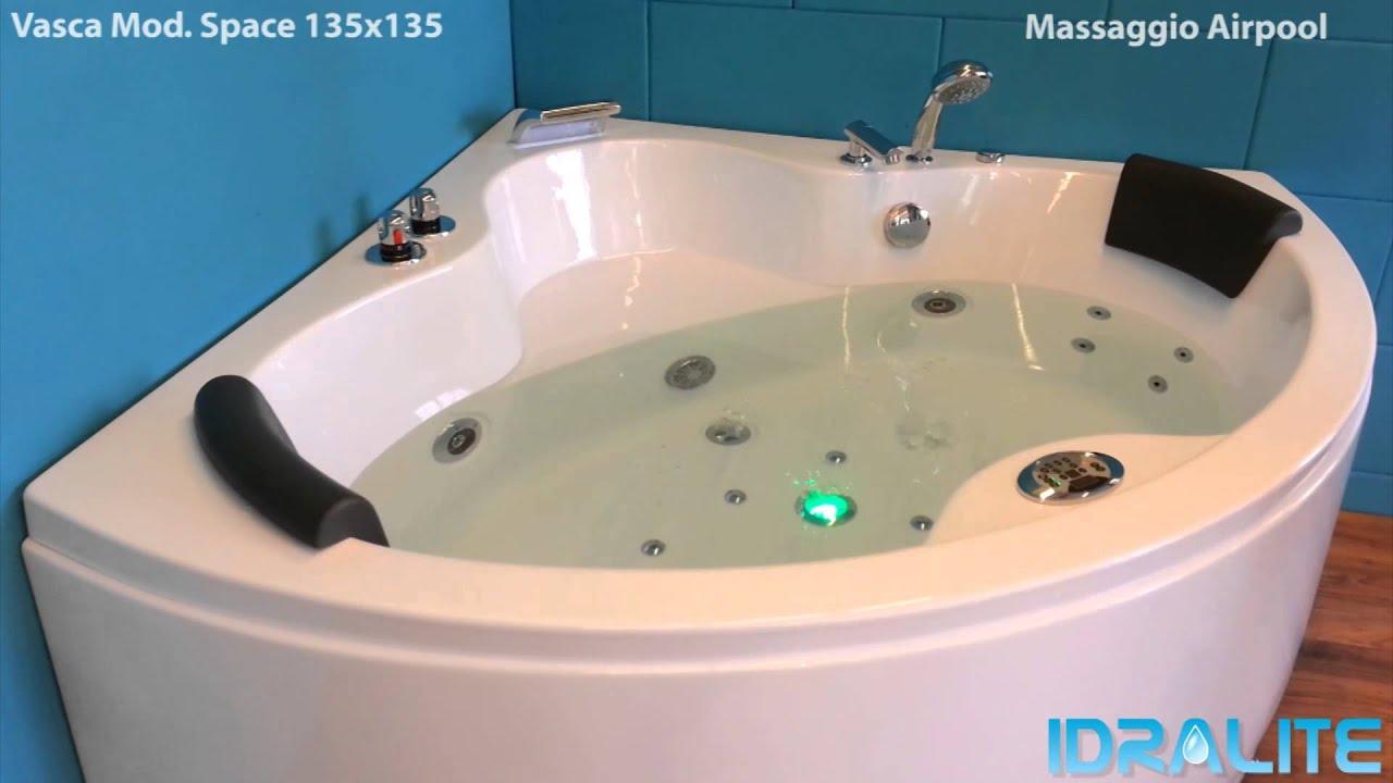 Vasca Idromassaggio Mod. Space 135x135 - Idralite.it - YouTube