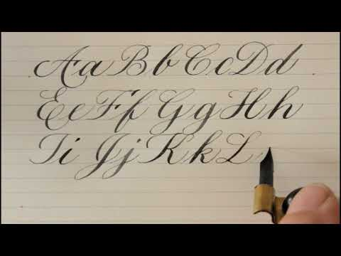 how to write in copperplate - for beginners