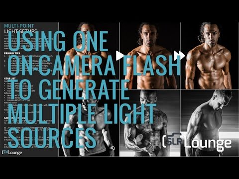 Using One On-Camera Flash To Create Multiple Light Sources | Lighting 101
