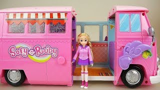 Baby doll friends camping car toy play thumbnail