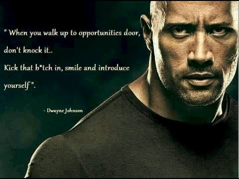 Motivational Video Quotes Daily 50 Dwayne Johnson Smile & introduce Yourself