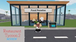 Review Restaurant Tycoon 2 | Roblox | Indonesian