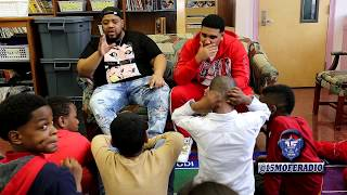 GOODZ AND CHARLIE CLIPS SPEAK TO STUDENTS ABOUT BATTLE RAP AND THE IMPORTANCE OF AN EDUCATION