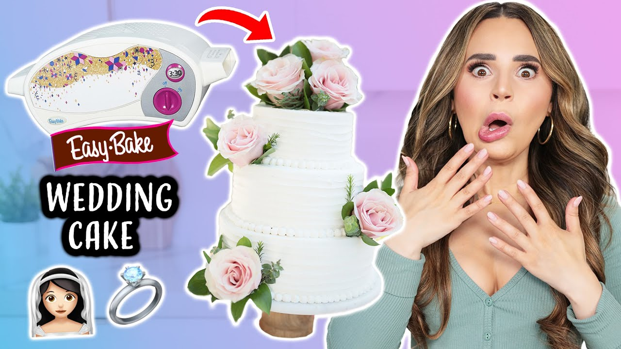I Tried Baking a WEDDING CAKE in an Easy Bake Oven!