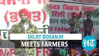 Farmer protest: Diljit Dosanjh visits Delhi border after Kangana Ranaut fight