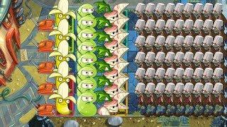 Banana Launcher, Parsnip, Laser Bean vs All Zombies - Pvz 2
