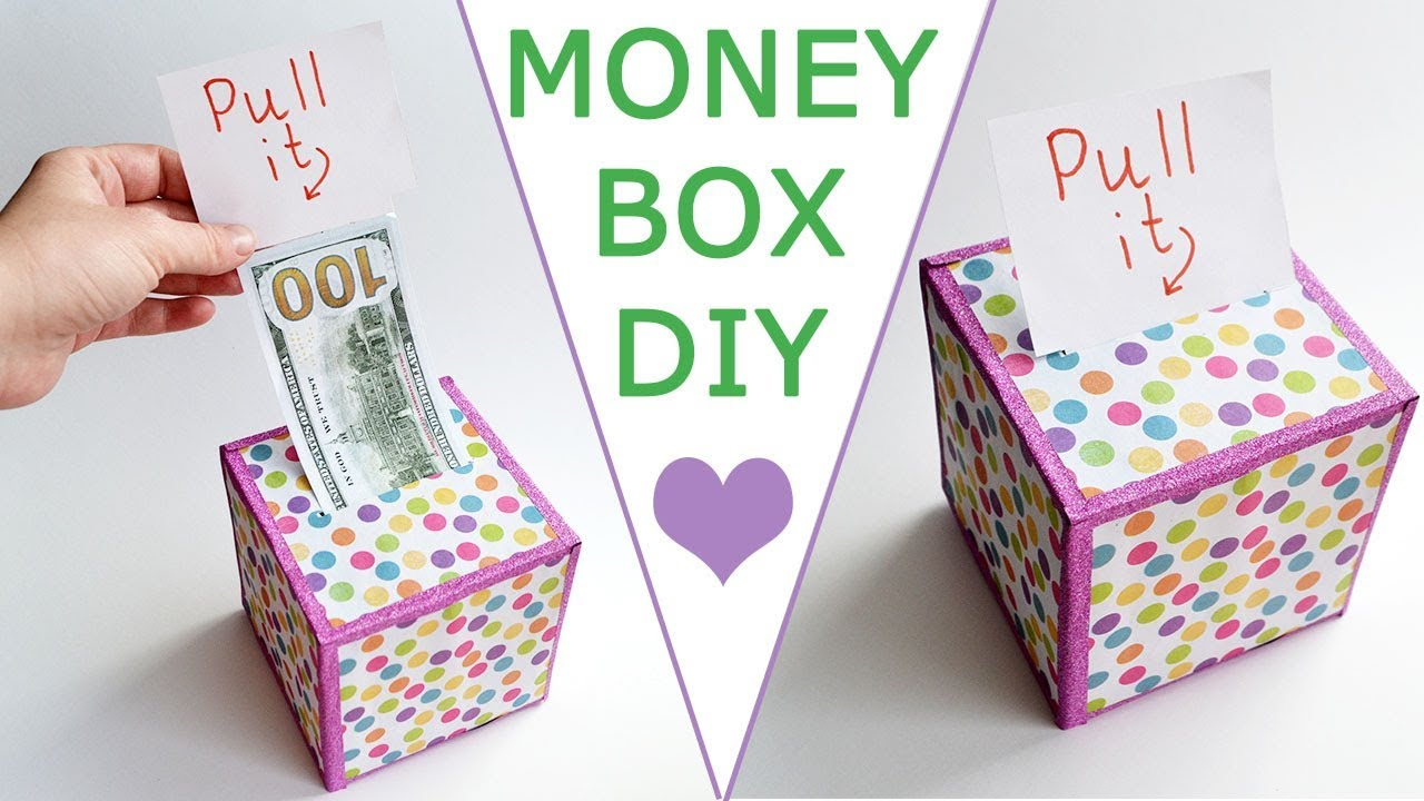 WOW! MONEY BOX   Surprise your family and friends!   DOLLAR IDEA Craft & Gift Tutorial DIY - YouTube