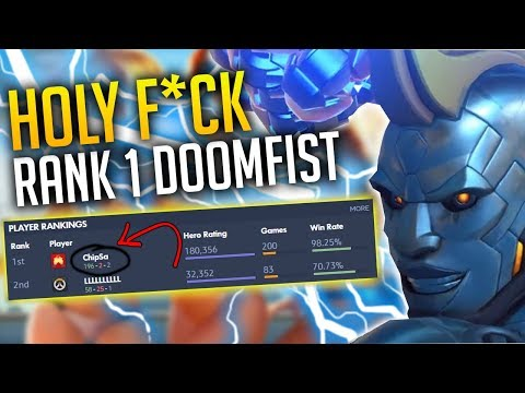 OVERWATCH RANK 1 DOOMFIST CHIPSA *HOLY F*CK THIS GUY IS AMAZING*
