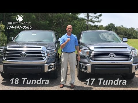 2018 Tundra vs 2017 Tundra comparison with Gary Pollard The Fist Pump Guy Bondy's Toyota Enterprise