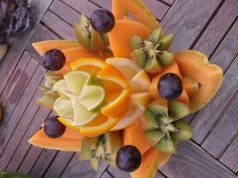 Fiore con frutta varia youtube for Fiori con la l