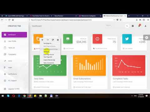 Install Material Design Admin Template in CodeIgniter thumbnail