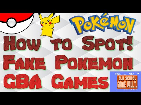 Tips for spotting Fake or Counterfeit Pokemon GBA Games