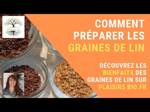 Comment utiliser les graines de lin youtube - Comment utiliser des couches lavables ...